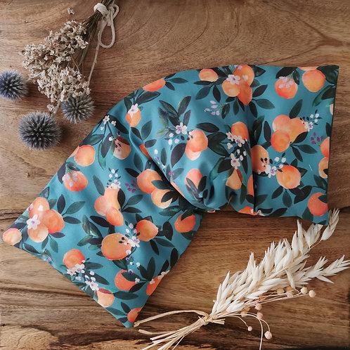 Bouillotte grand modèle aux graines de lin bio collection un oranger en fleurs