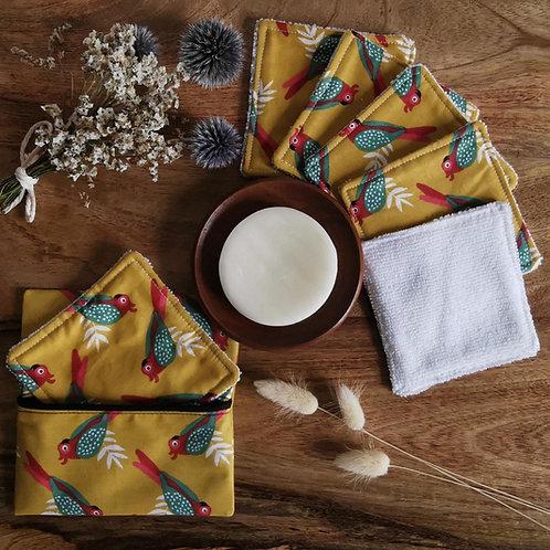 Lingettes collection perroquets colorés