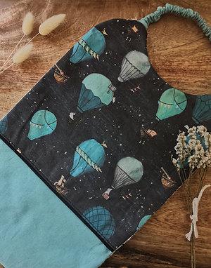 Serviette de cantine collection montgolfière dans les étoiles