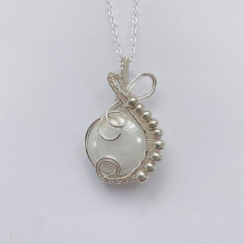 Silver Woven Wrap Pendant no.3
