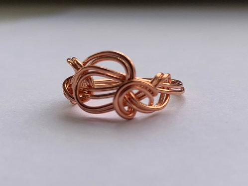 Copper Interwoven Infinity Ring