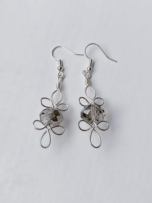 Flower Crsytal Earrings