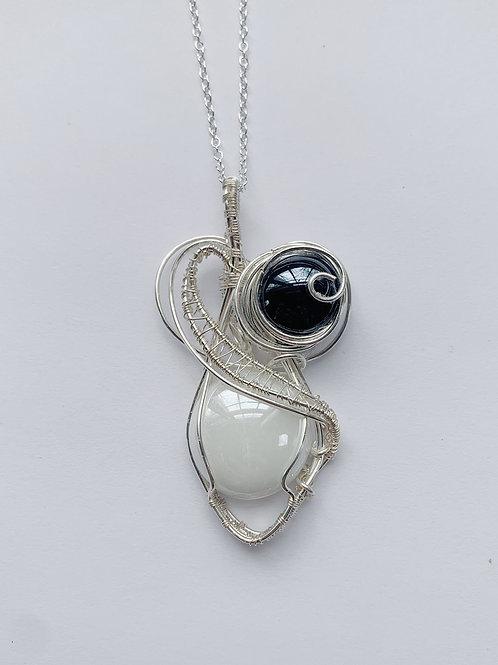 Silver Double Stone