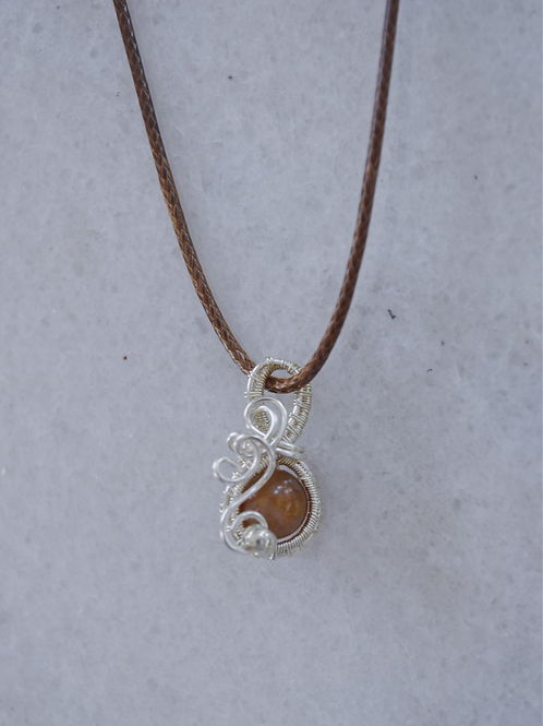 Brown and Silver Charm
