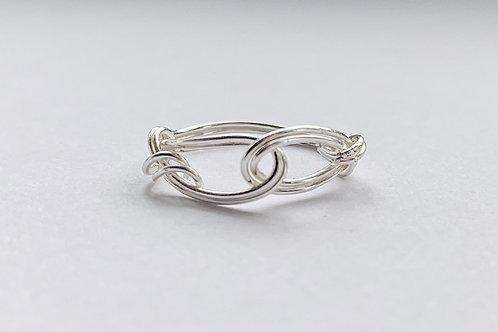 Interlocked Silver Ring