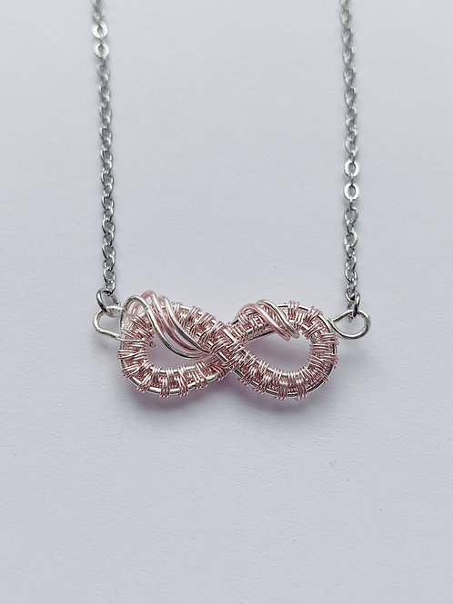 Pink and Silver Small Infinity no.2