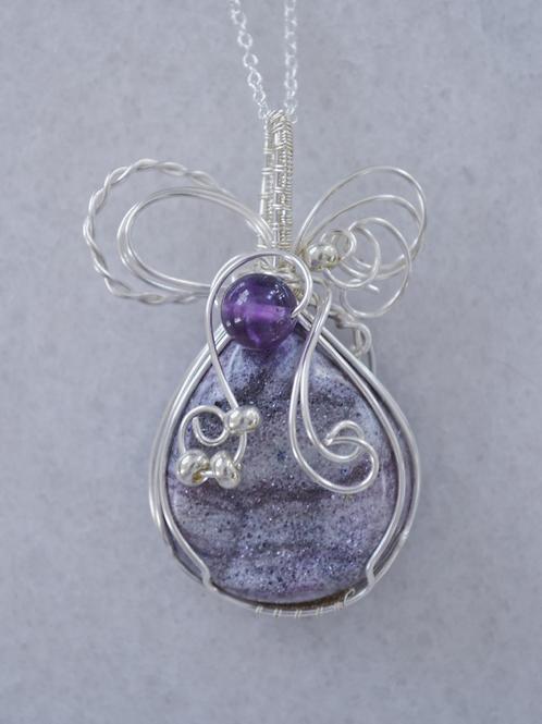 Mixed Purple Druzy Pendant