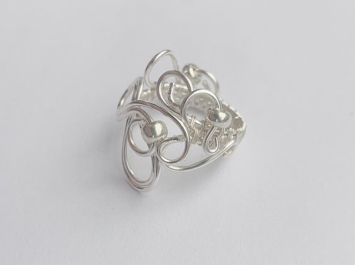 Silver Swirl and Infinity Ring