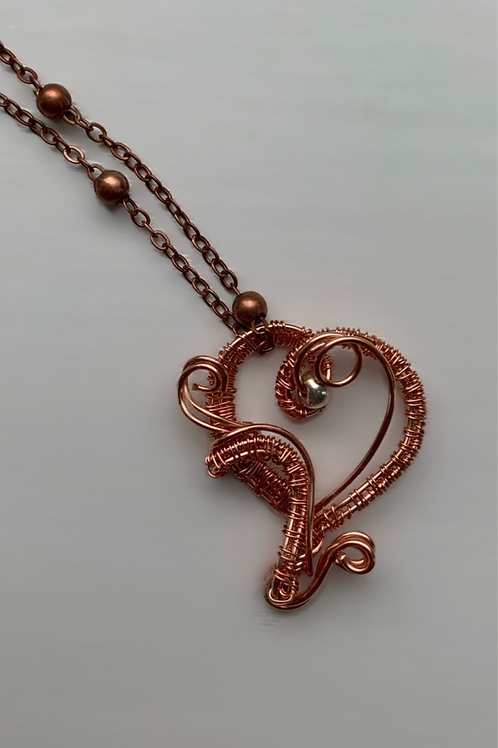 C2 Small Copper Sweetheart Pendant