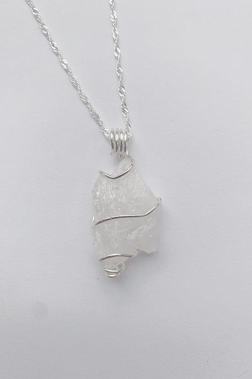 White Quartz Crystal Pendant