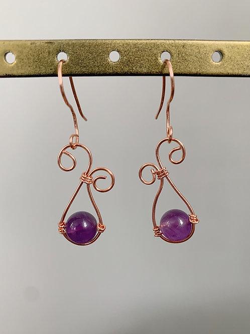 Swirled Dangling Earrings