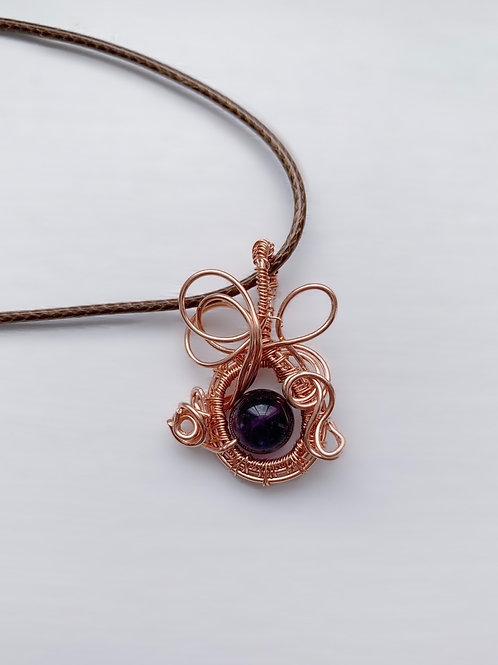 Purple Copper Charm