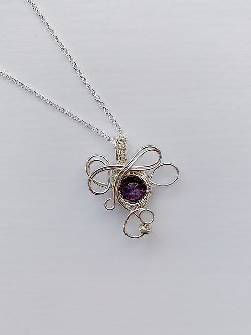 Purple and Silver Charm no.2