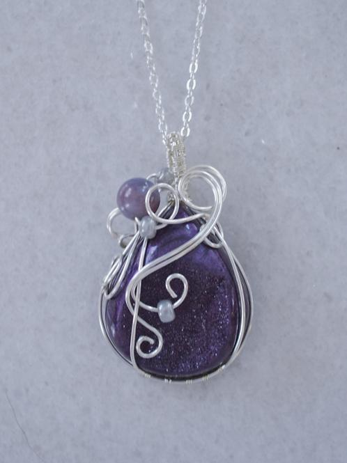 Deep Purple Druzy Pendant