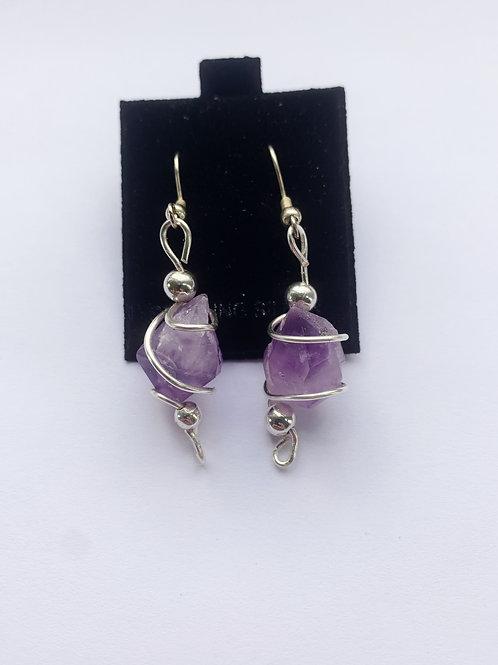 Amethyst Crystal Earrings no.1