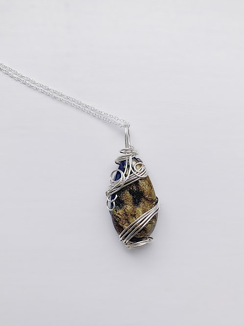 Blue and Gold Druzy Wrap