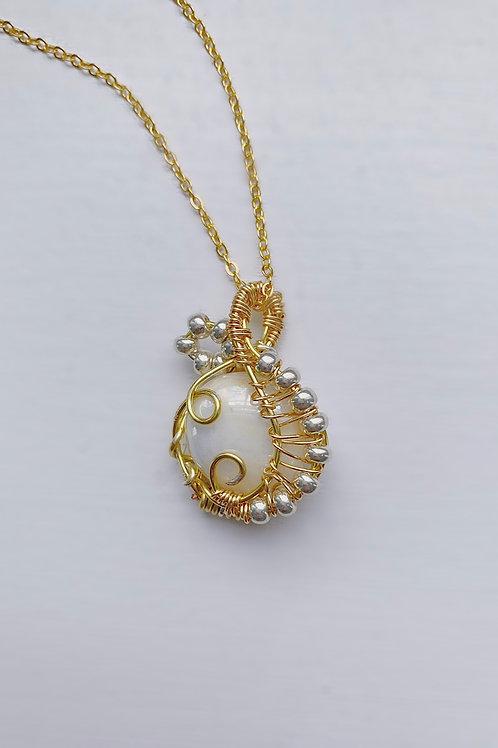 Gold Infinity Wrap Pendant