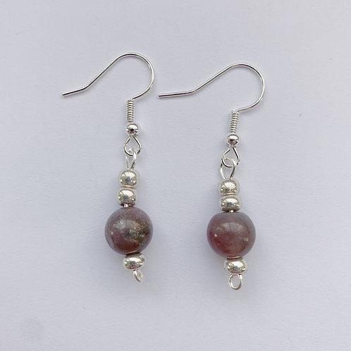 Russet-Brown Dangling Earrings