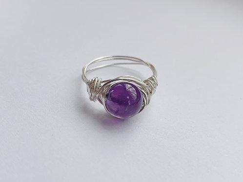 Purple Bead Ring