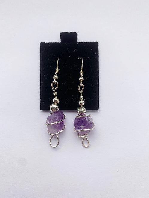 Amethyst Crystal Earrings no.2