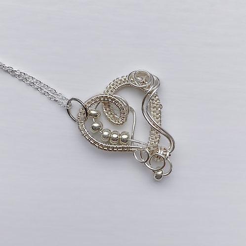 Small Silver Sweetheart Pendant