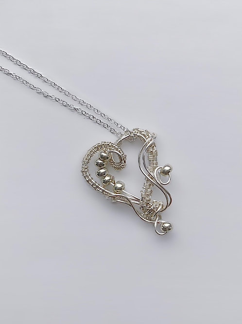 Small Silver Sweetheart Necklace