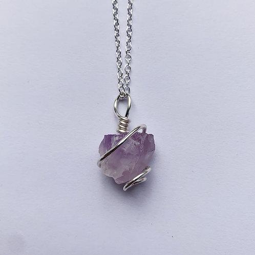 Rough Amethyst Crystal Necklace no.2