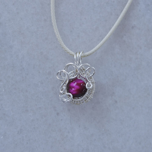 Red-Pink and Silver Charm no.2