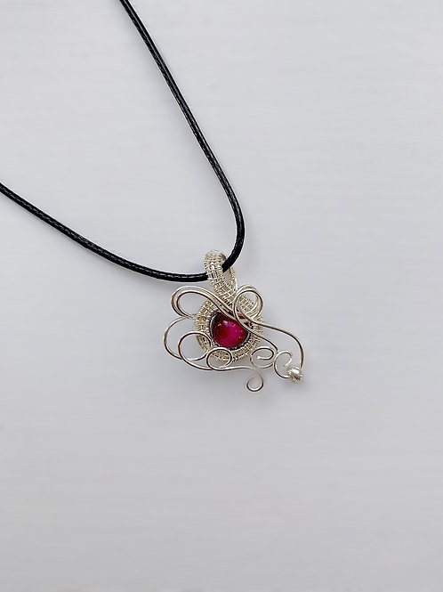 Red-Pink and Silver Charm no.1