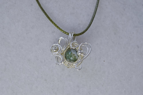 Green Tones and Silver Charm