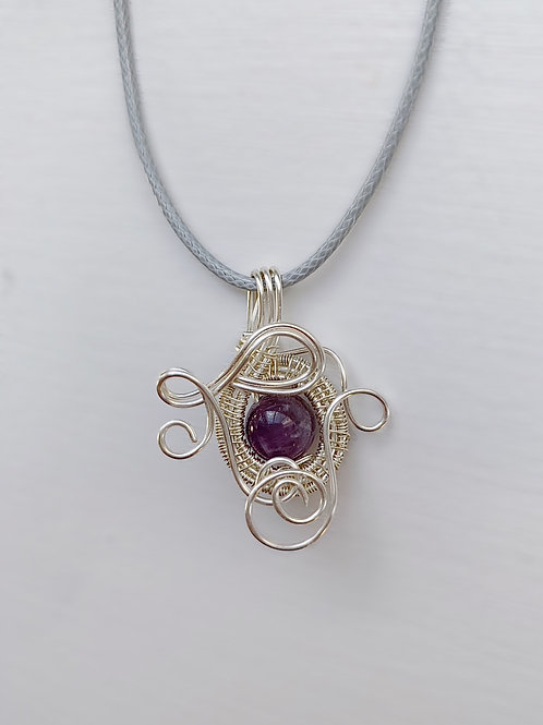 Purple and Silver Charm no.1