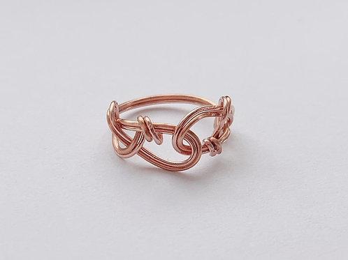 Copper Interwoven Ring