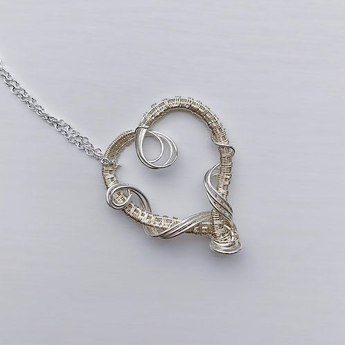 Medium Silver Sweetheart Pendant