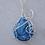 Thumbnail: Mixed Blue Druzy Pendant