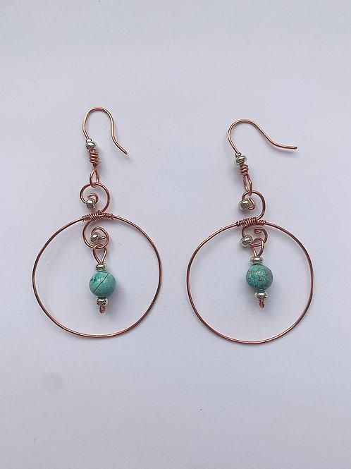 Turqoise Hoop Earrings