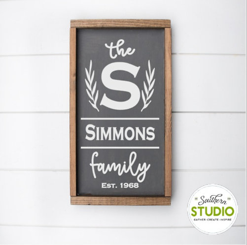 Family Name Sign DIY