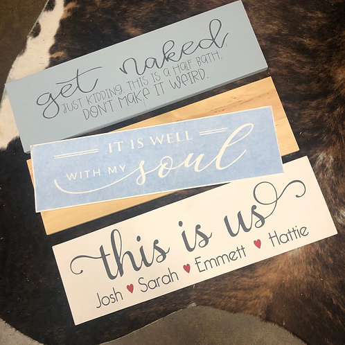 Unframed Customizable Signs DIY