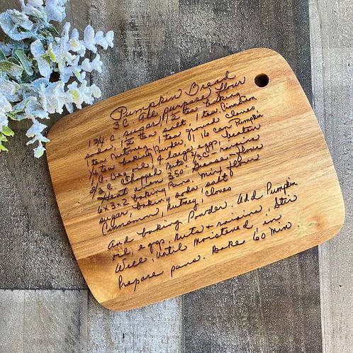 Personalized Recipe Cutting Board