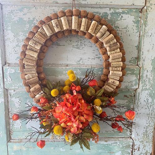 Wine and Champagne Cork Wreath