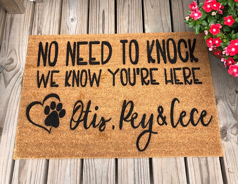 Customized Doormat $30-$40