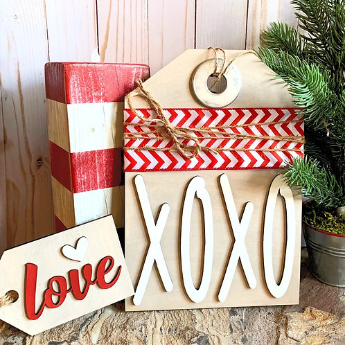 XOXO Valentine Tag DIY Box