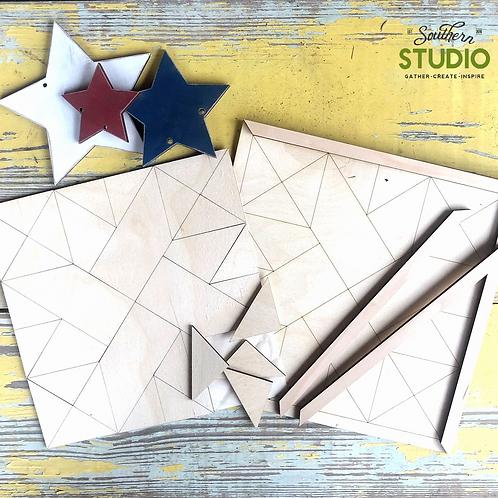 Quilt Pattern Wall Art Kit