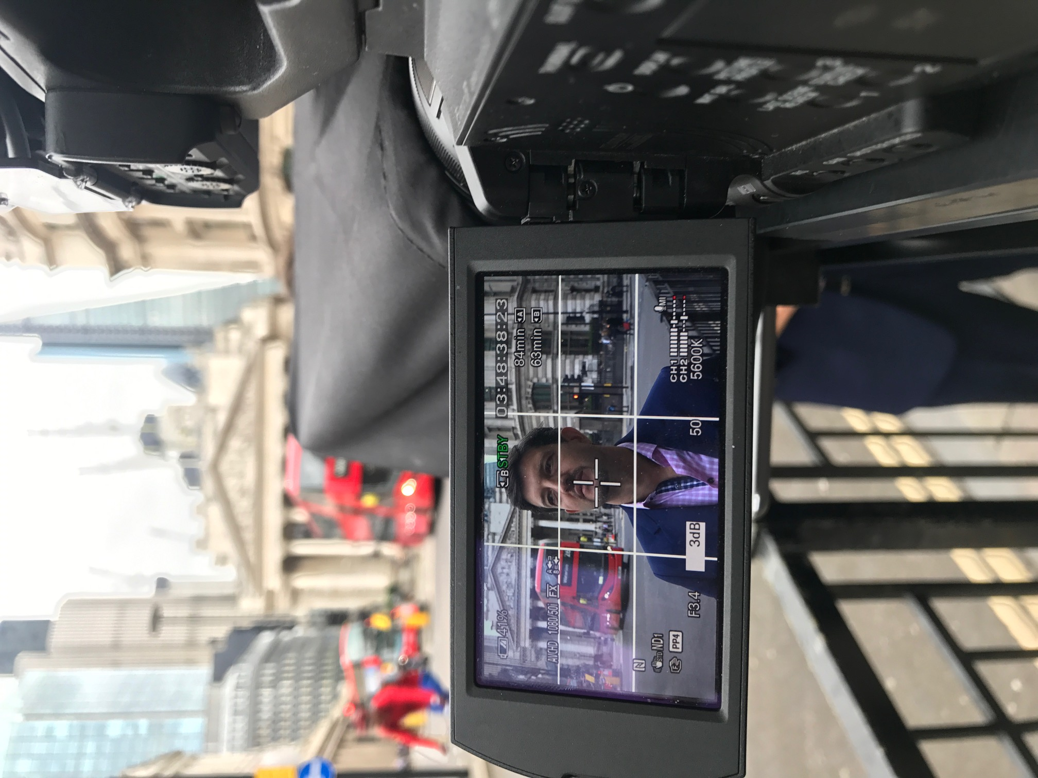 On location shoot in central London