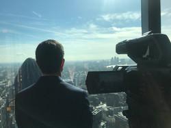 Special location skyscraper shoot