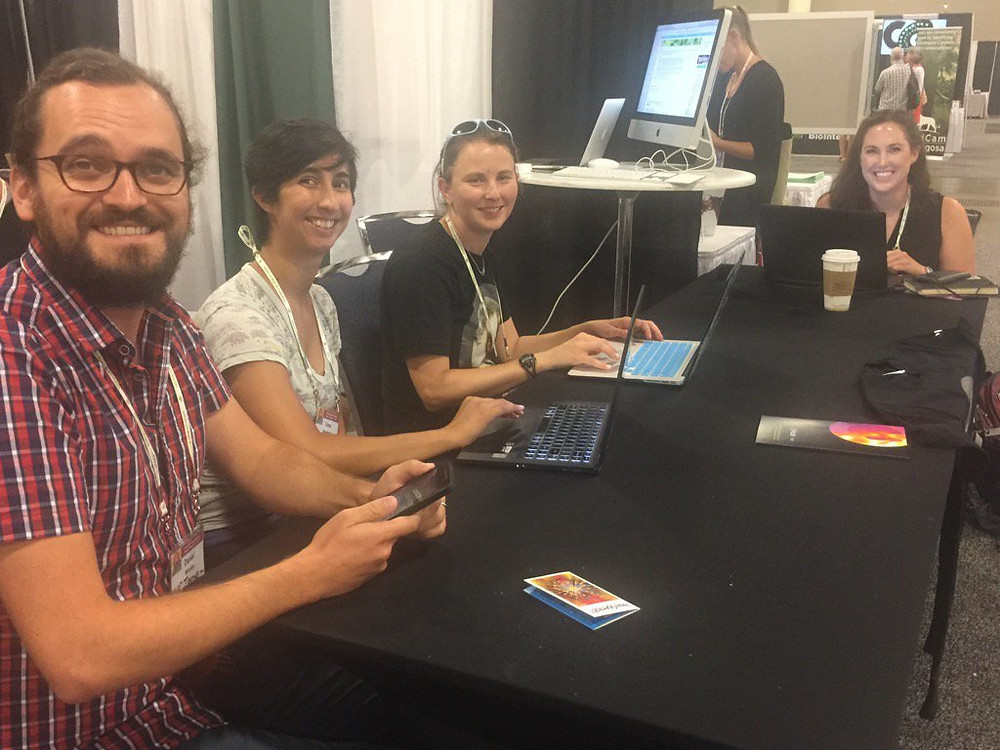Me and fellow PLOS reporting fellows answering questions on a reddit AMA