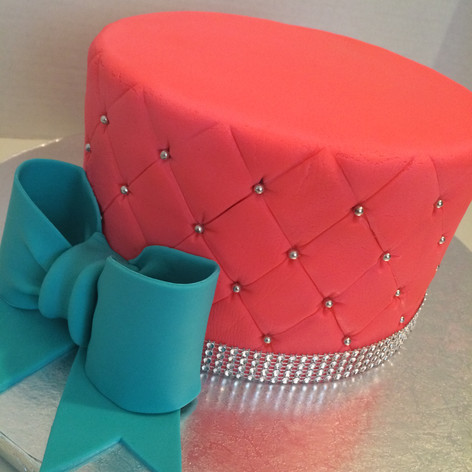 Pink Fondant Cake with bow
