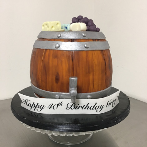 Wine Barrel Sculpted Cake