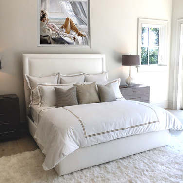 Art that inspires relaxation works beautifully in a bedroom or place of relaxation.
