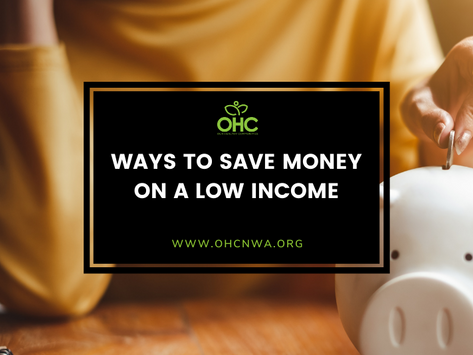 WAYS TO SAVE MONEY ON A LOW INCOME