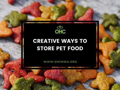 CREATIVE WAYS TO STORE PET FOOD